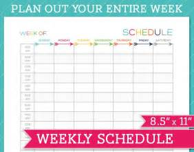 Weekly Schedule Calendar Template by 5 Weekly Schedule Templates Excel Pdf Formats
