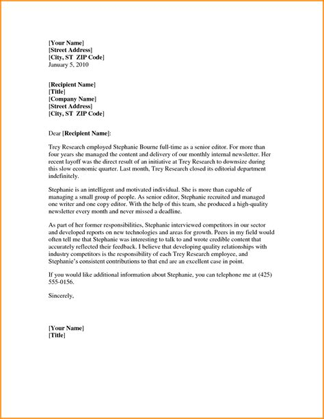 Letter Of Recommendation Template Doc letter template word formal letter template