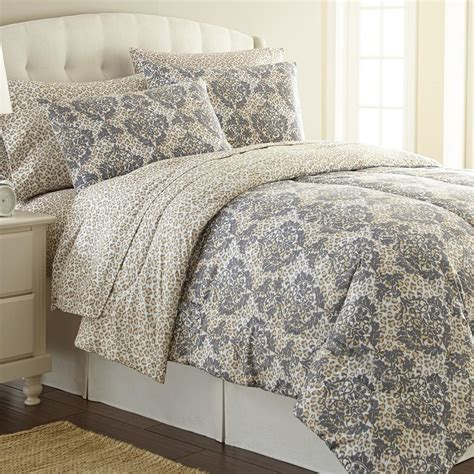 Micro Flannel Leopard Twin 3 Piece Comforter Set