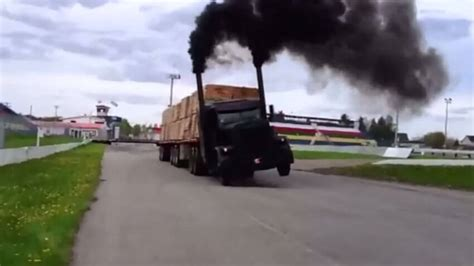 truck drag race you ve got to see this peterbilt semi truck drag race