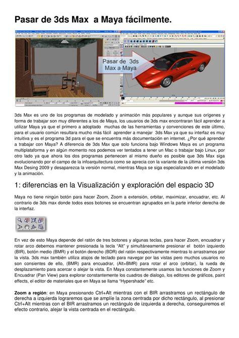 pasar muchas imagenes a pdf pdf de programaci 243 n pasar de 3ds max a maya facilmente