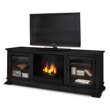 real fireplace tv stand real hudson 68 quot ventless gel fireplace and tv stand
