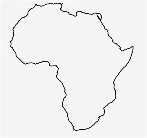 Blank Outline Of Africa by Africa Map Blank Clipart Best