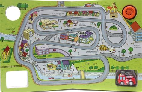 Usborne Wind Up Racing Cars 아기 자동차책 레이싱책 usborne wind up racing cars 토이북 풀백북 태엽책