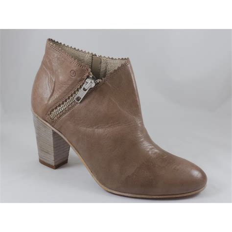 taupe leather ankle boot from size4footwear uk