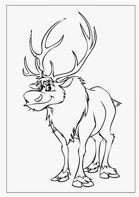 frozen reindeer coloring pages frozen coloring pages sven instant knowledge