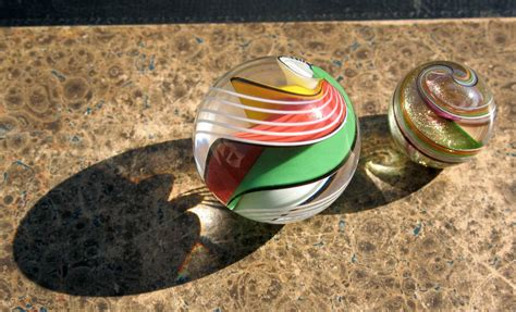 Handmade Marble - handmade marbles by wald glass and steven maslach