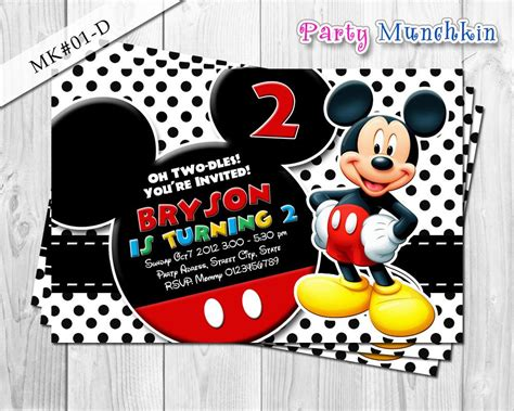 party invitations cool mickey mouse party invitations design ideas