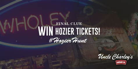 hozier tickets complete our hozierhunt you could win 2 hozier tickets