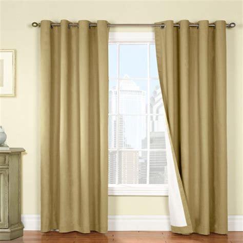 nantucket curtains nantucket cotton twill khaki insulated thermalogic grommet