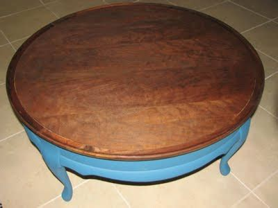 Dumped And Discovered Smurf Table
