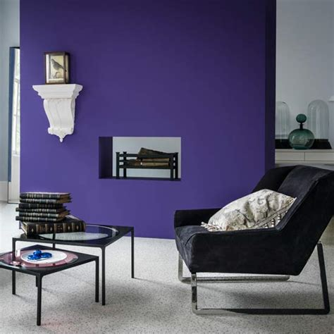 Purple Feature Wall Living Room by 7 Amazing Colours For A Statement Wall With Wow Ideal Home