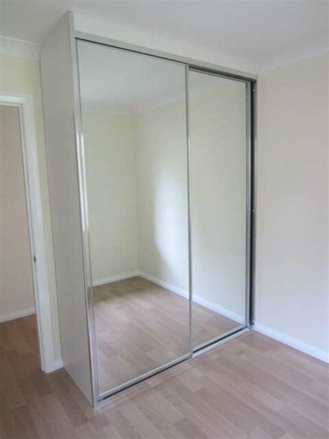 diy wardrobe mirror glass sliding doorsmade  measure