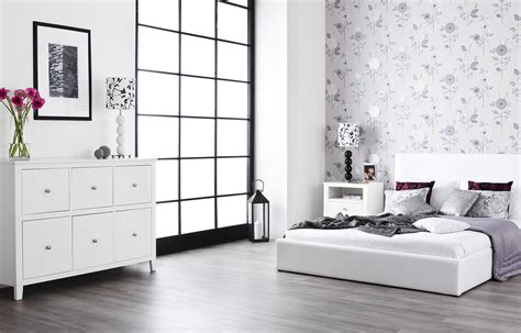 white gloss bedroom furniture adding a bathroom