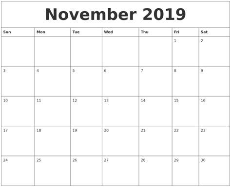 editable november  printable calendar word  excel templates calendar office