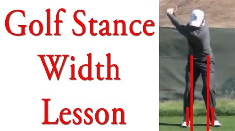 width golf swing tiger woods 60 second stance width lesson youtube