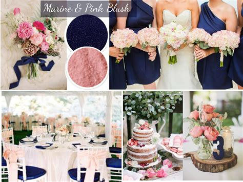 wedding color trends blue and pink