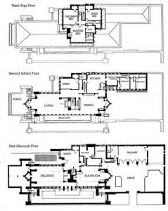 robie house floor plan front