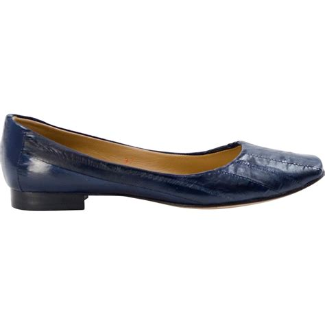 navy flat shoes navy blue eel skin slip flats paolo shoes