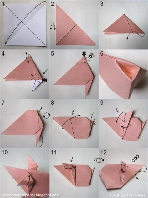 Origami Pig - the world s catalog of ideas