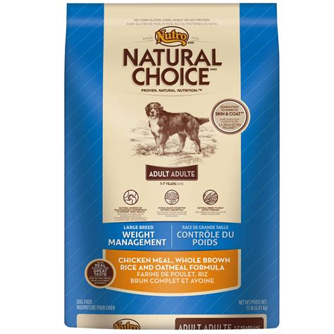weight management oatmeal nutro choice large breed weight management chicken