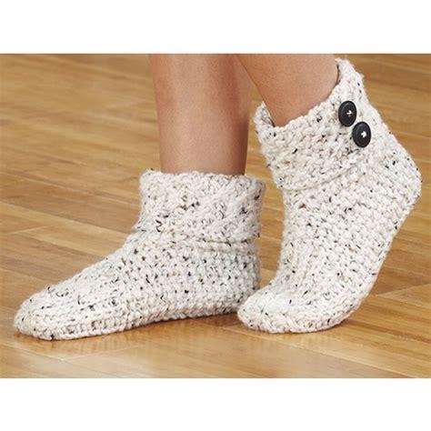 knit slippers knit slippers aran tweed