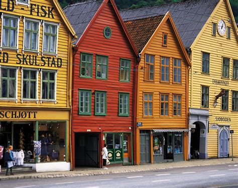 buying a house in norway brightly coloured traditional norwegian timber merchants houses in bryggen bergen
