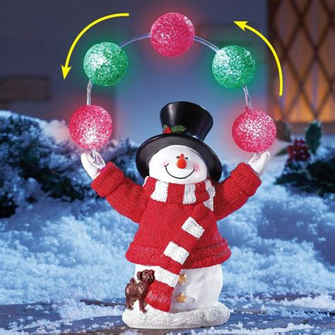 yard lighted snowman decoration outdoor
