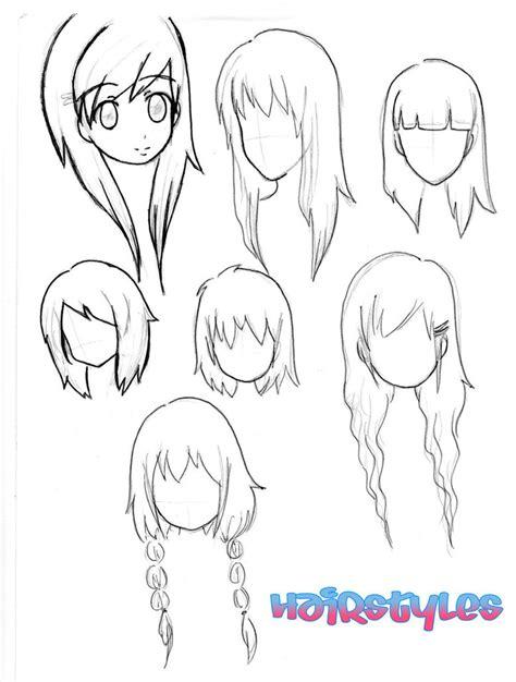 manga girl hairstyles by inasyasyasya art stuff chibi hairstyles drawing pinterest chibi drawing