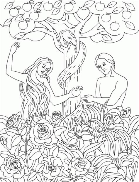 coloring pages of the garden of eden serpent eden gt gt gt the serpent temp adam and eve to eat