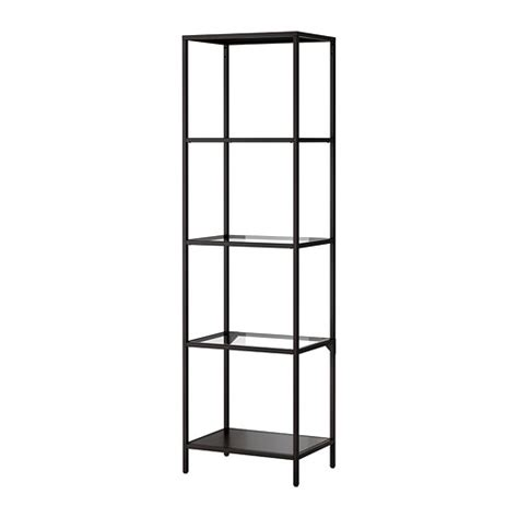 metal rack ikea vittsj 214 shelving unit black brown glass ikea