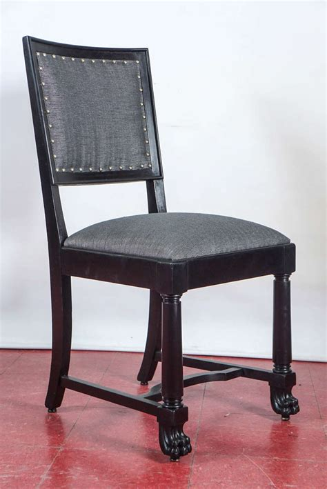 ebonized arts and crafts style dining chairs for sale at