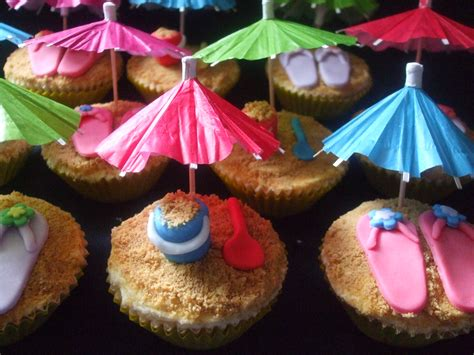 seaside themed cupcakes sweet sassy cakes