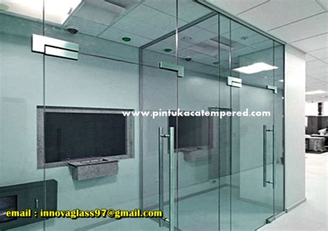 Tempered Glass Pintu pintu kaca tempered harga murah dengan frameless patch fitting pasang pintu kaca tempered murah