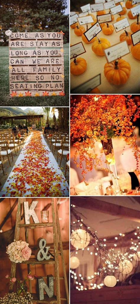 best 25 fall wedding decorations ideas on pinterest