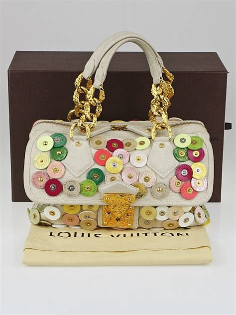 Louis Vuitton Summer Collection Polka Dots Fleurs by Louis Vuitton Limited Edition Beige Canvas Polka Dots