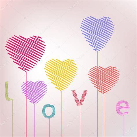 imagenes abstractas romanticas amor coraz 243 n mano abstracta dibujo globos de san valent 237 n