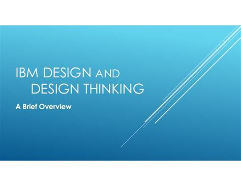 design thinking overview ibm design thinking with z os communications server