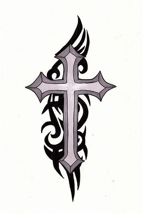 cross tattoo with tribal background black tribal and cross clipart panda free