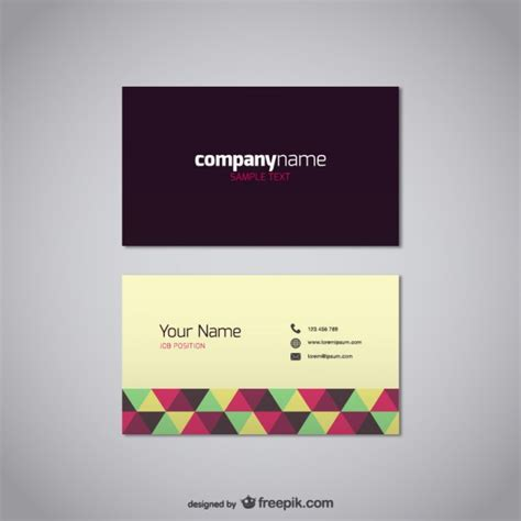 free vector template business card 20 free business card design templates from freepik