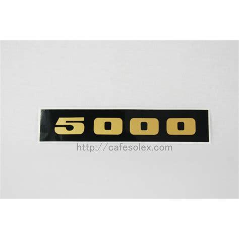 Aufkleber Name Gold by Solex Motor Sticker 5000 Gold An Cafesolex