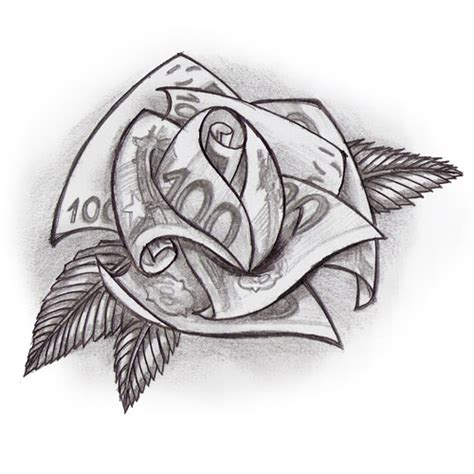 rose made out of money tattoo tattoos images by hoyle