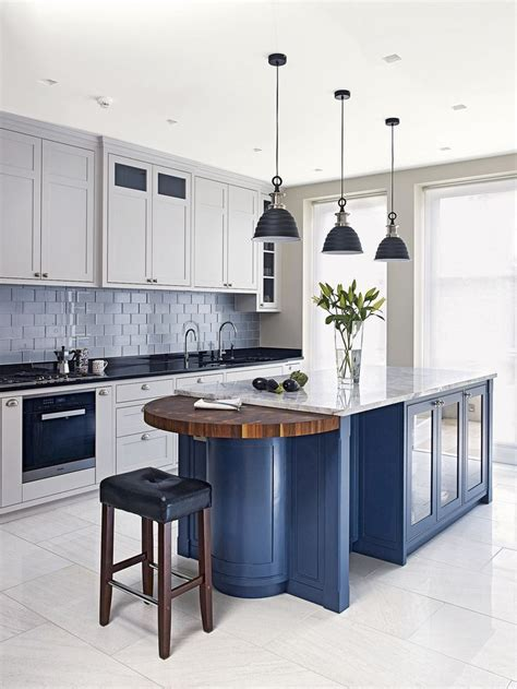blue kitchen island best 25 blue kitchen island ideas on painted