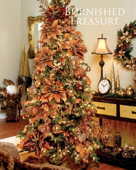 burnt orange holiday xmas decor 54 best images about trees on trees tree decorations and trees