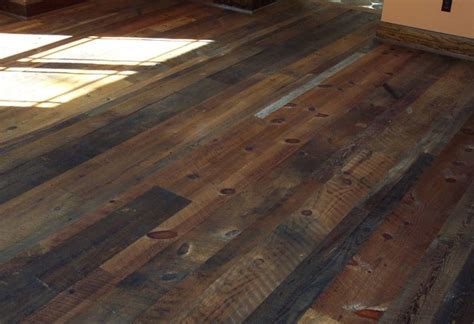 Distressed Timber Flooring - distressed reclaimed tobacco barn flooring with finish