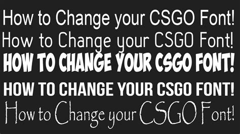 how to change your csgo font