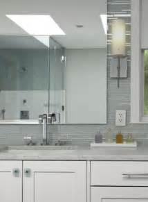 glass tile backsplash bathroom white and gray tiles design ideas