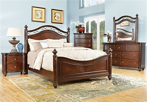 Bedroom Terms by Laurel View Cherry 5 Pc King Poster Bedroom Bedroom Sets
