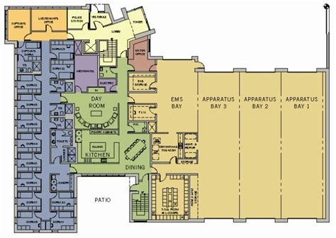 firehouse floor plans 2 story fire station plans pictures to pin on pinterest