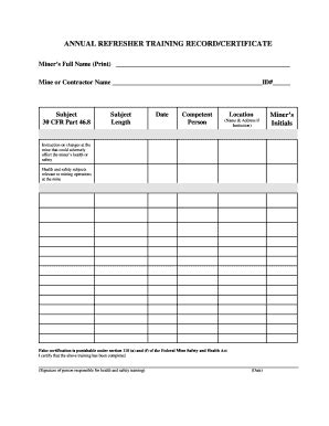 Fillable Certificate Of Training Completion Template